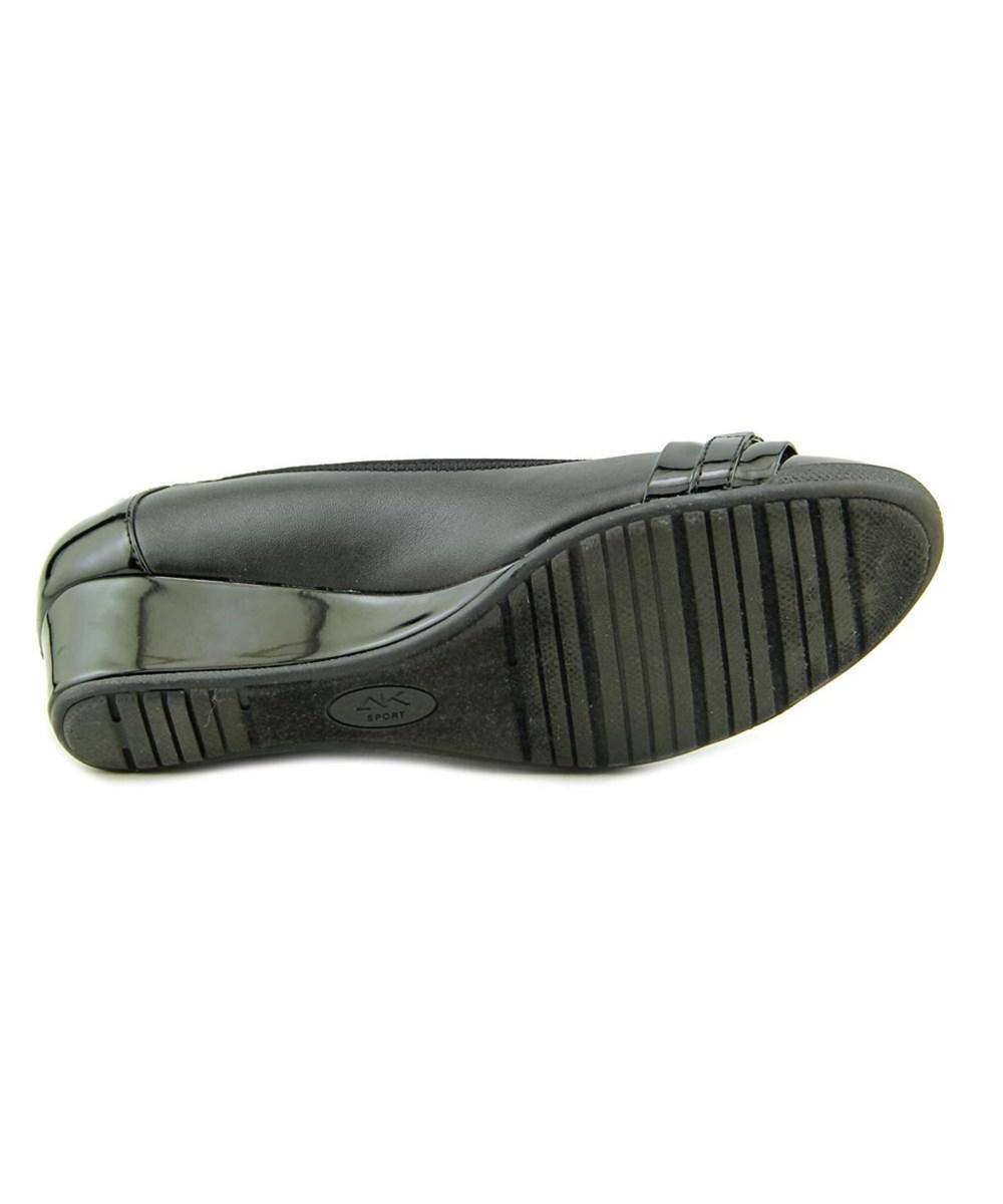 1c6a10d7bca5 Lyst - Anne klein Carvallo Women Open Toe Synthetic Wedge Heel in Black