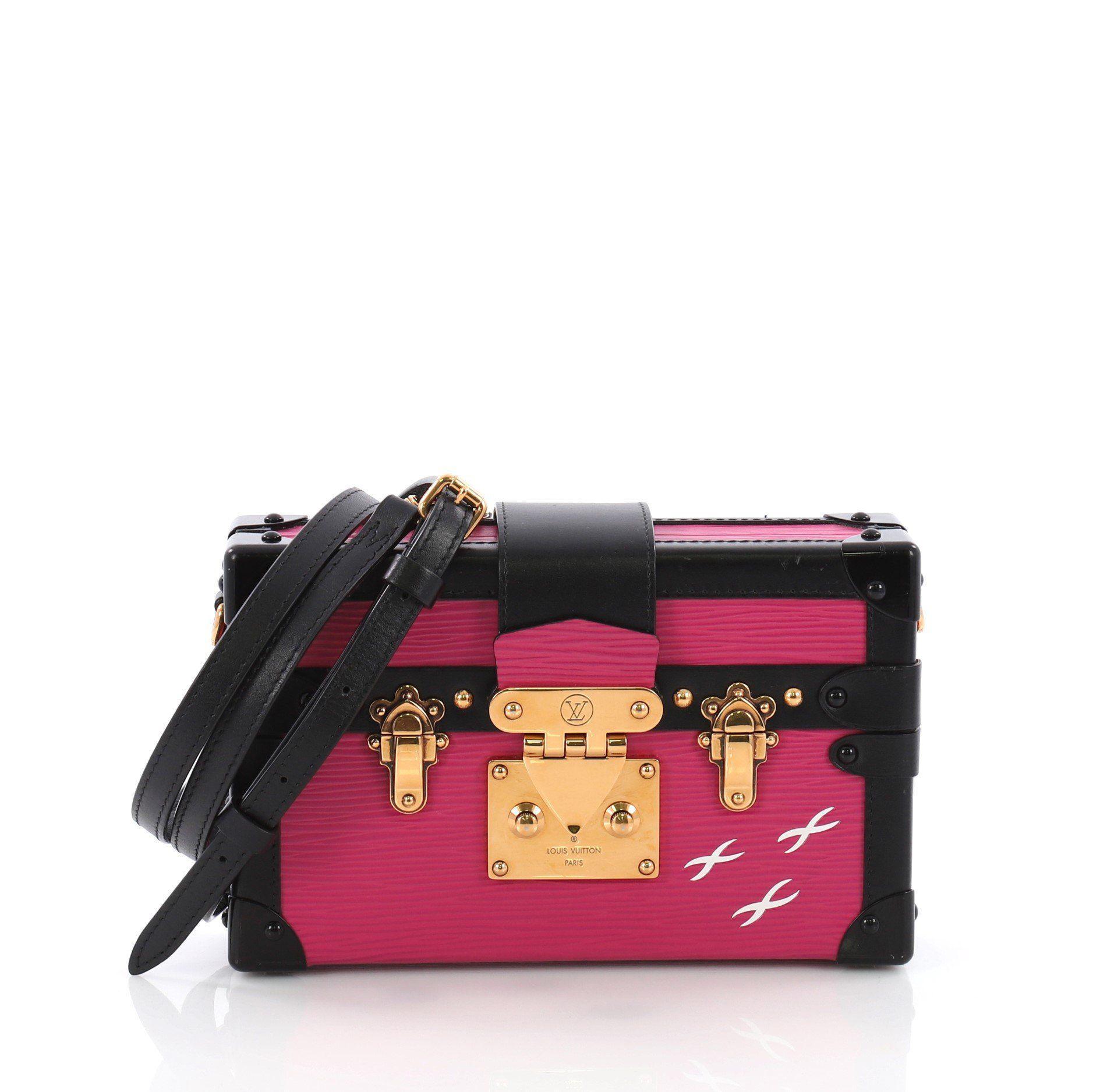 8af9516aeb8e Lyst - Louis Vuitton Pre Owned Petite Malle Handbag Epi Leather