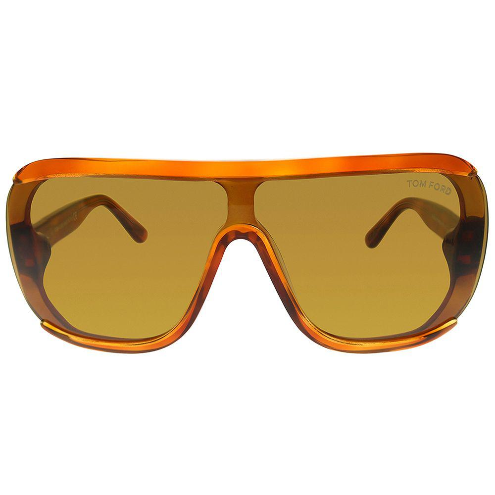 474fba14972 Tom Ford - Brown Porfirio Ft 0559 53e 0mm Blonde Havana Shield Sunglasses -  Lyst. View fullscreen