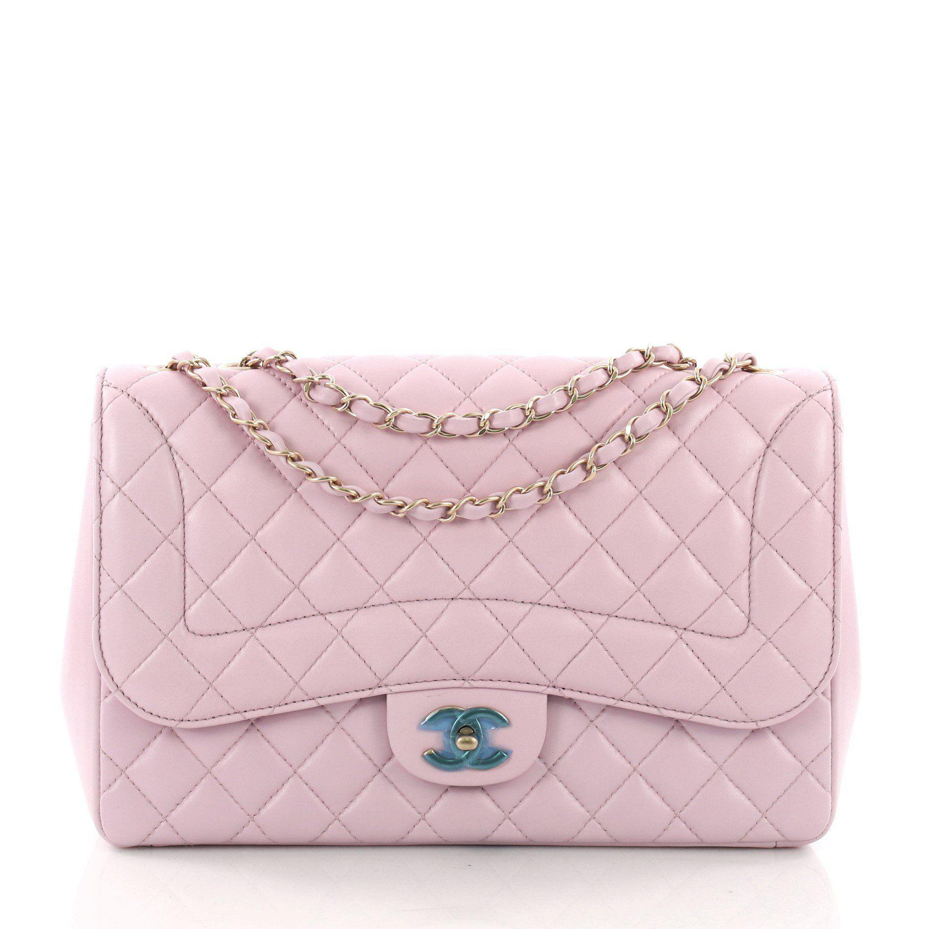 da73c8fe53 Lyst - Chanel Pre Owned Mademoiselle Chic Flap Bag Quilted Lambskin ...
