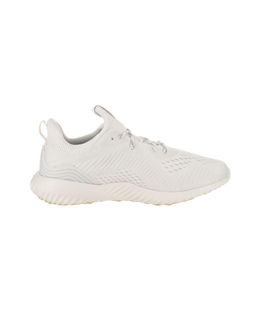 watch 00131 34e4c Adidas Mens Alphabounce 1 Parley Running Shoe in White for M