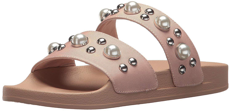 ae0001c8d8c Lyst - Steve Madden Women s Polite Slide Sandal in Brown