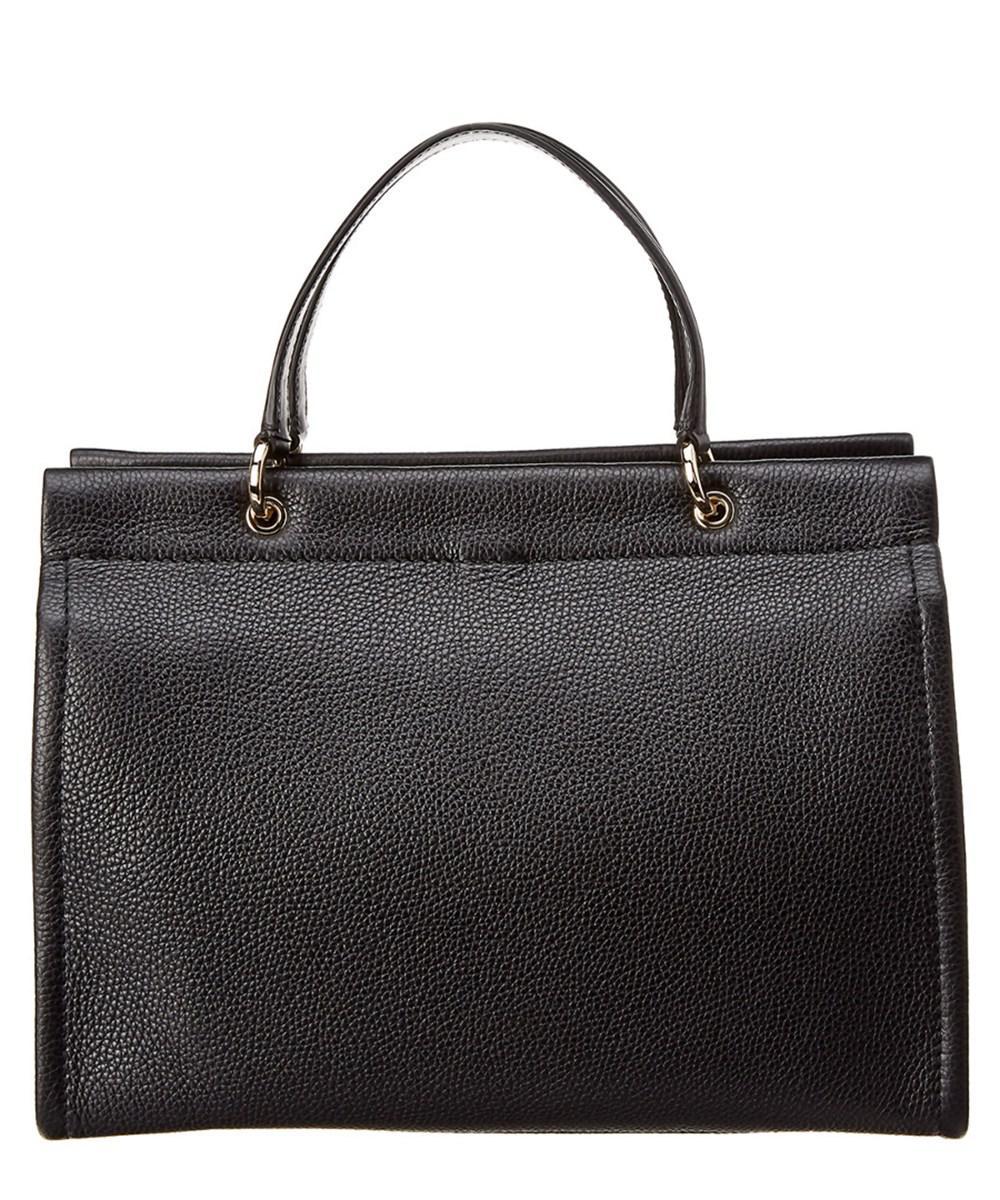 ded8e02647cc Lyst - Ferragamo Double Handle Gancini Leather Tote in Black