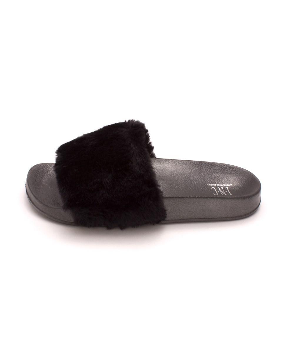 44e3cf038b481d Lyst - Inc International Concepts Womens Faux Fur Faux Fur Open Toe ...