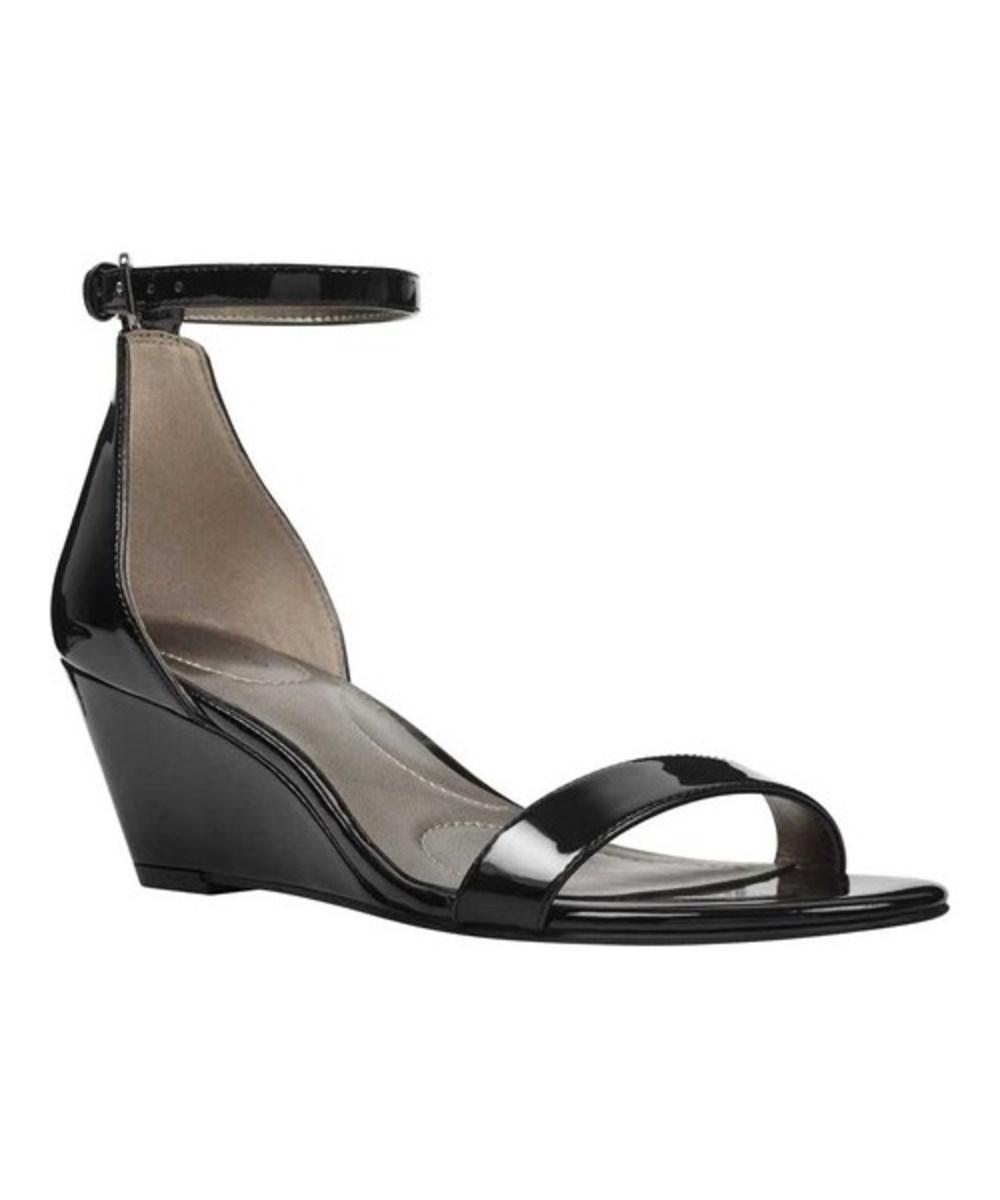 4a841241ec0a Lyst - Bandolino Women s Omira Ankle Strap Wedge Sandal in Black