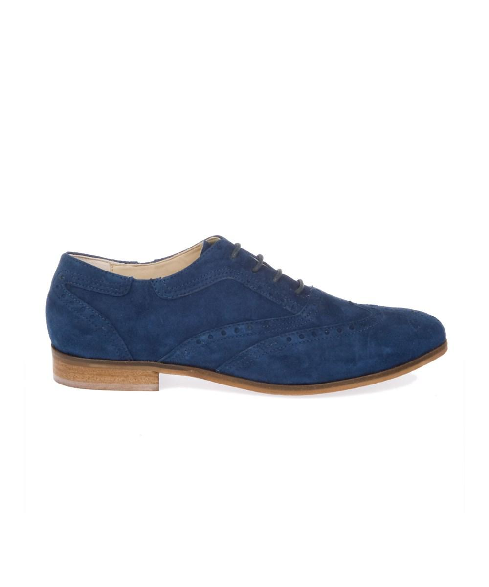 Peperosa Peperosa Womens  Blue Suede LaceUp Shoes