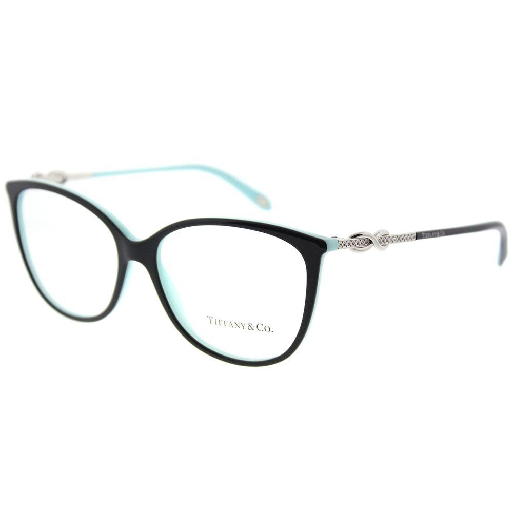 31cb61120be Lyst - Tiffany   Co Tf 2143b 8055 55mm Black blue Oval Eyeglasses
