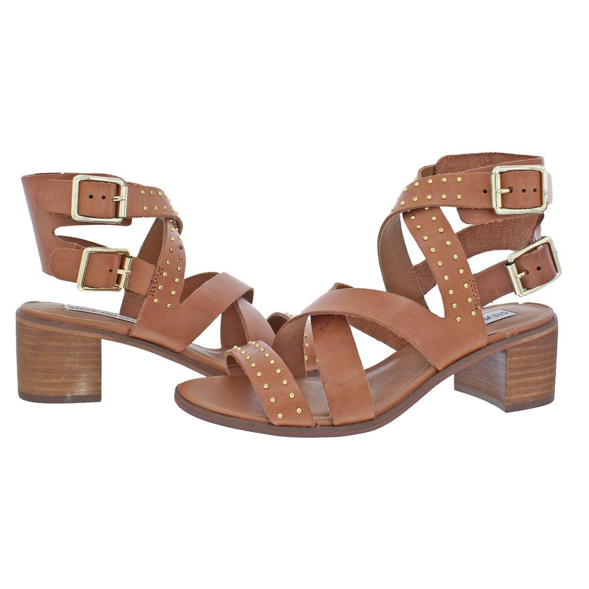 63c750cc7e7 Steve Madden - Brown Womens Adrien Open Toe Strappy Dress Sandals - Lyst.  View fullscreen