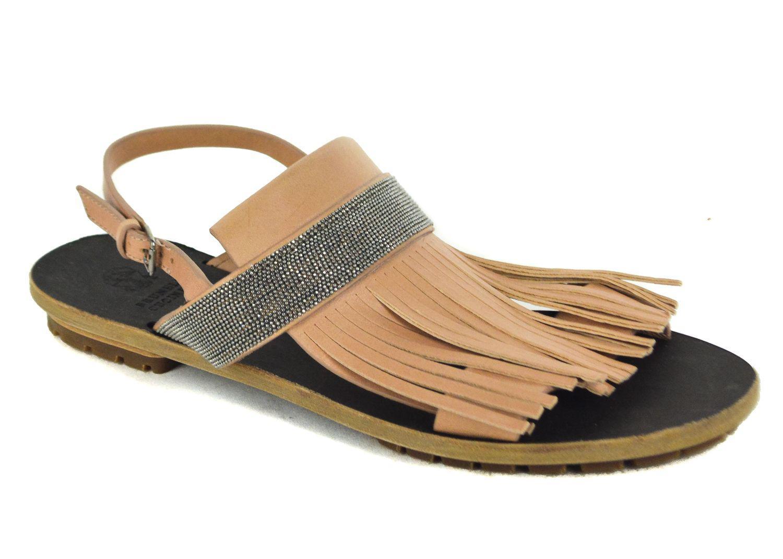 c71c960ed51 Lyst - Brunello Cucinelli Monili Fringe Sandal With Ankle Strap in White