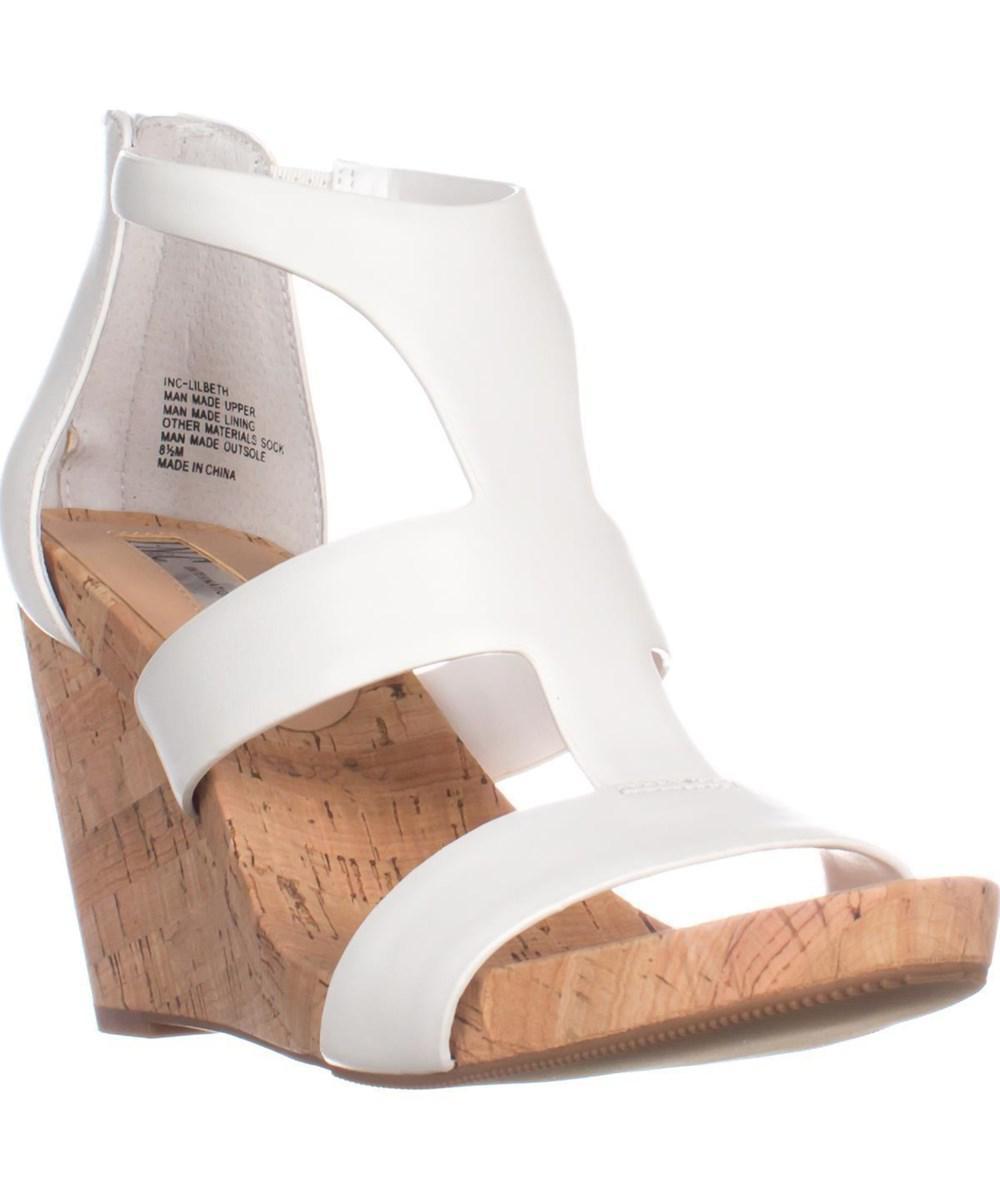 f823790b499a Lyst - Inc International Concepts I35 Lilbeth T-strap Wedge Sandals ...