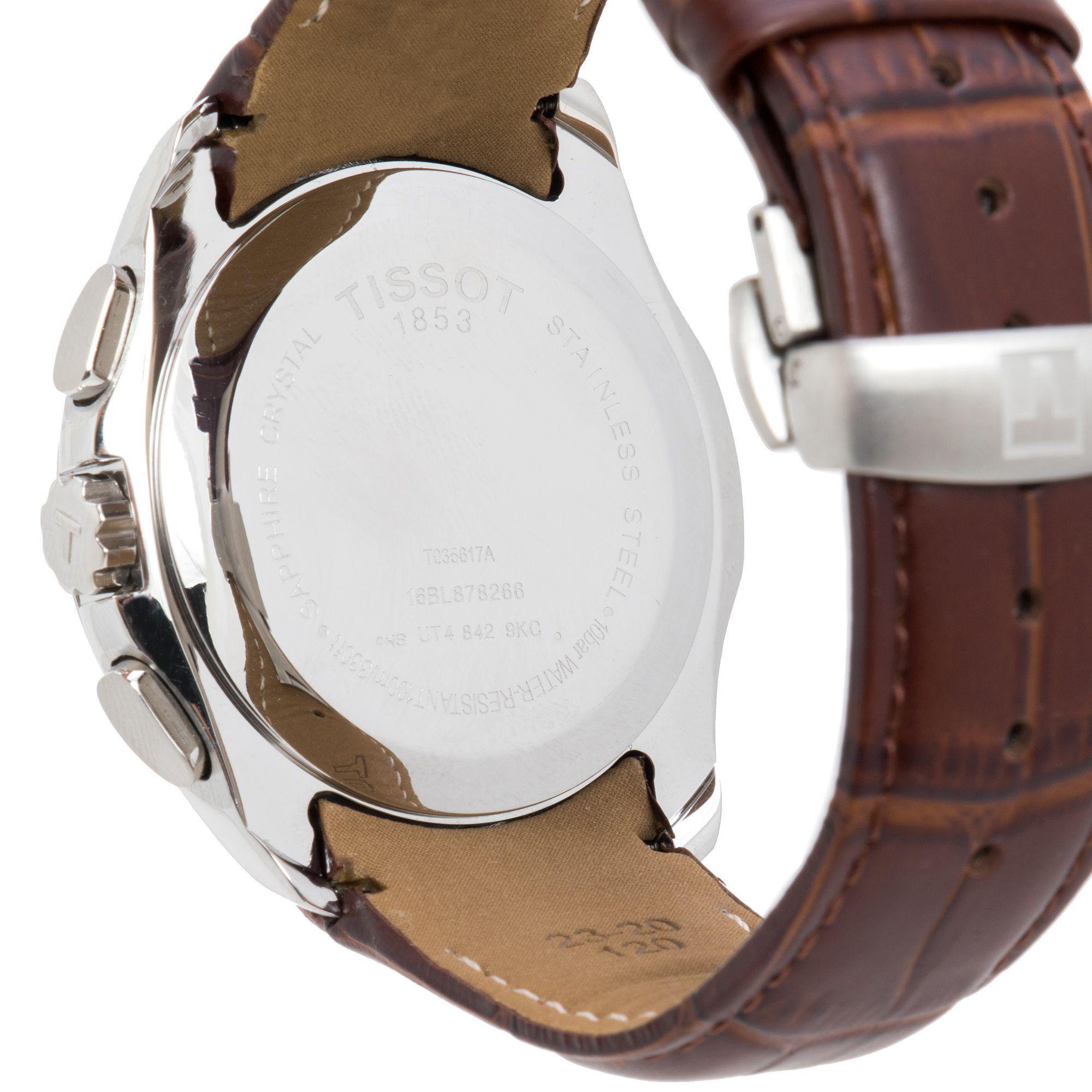 Lyst Tissot Couturier Chronograph Black Dial Mens Watch For Men T0356271605100 View Fullscreen