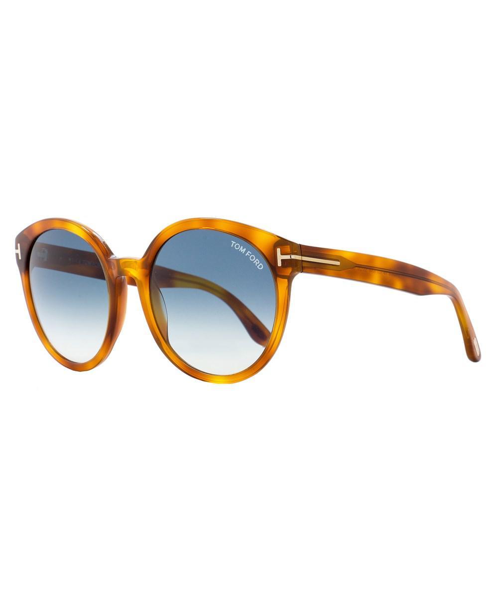 e2b36e35633 Tom Ford - Multicolor Oval Sunglasses Tf503 Philippa 53w Blonde Havana  Ft0503 - Lyst. View fullscreen