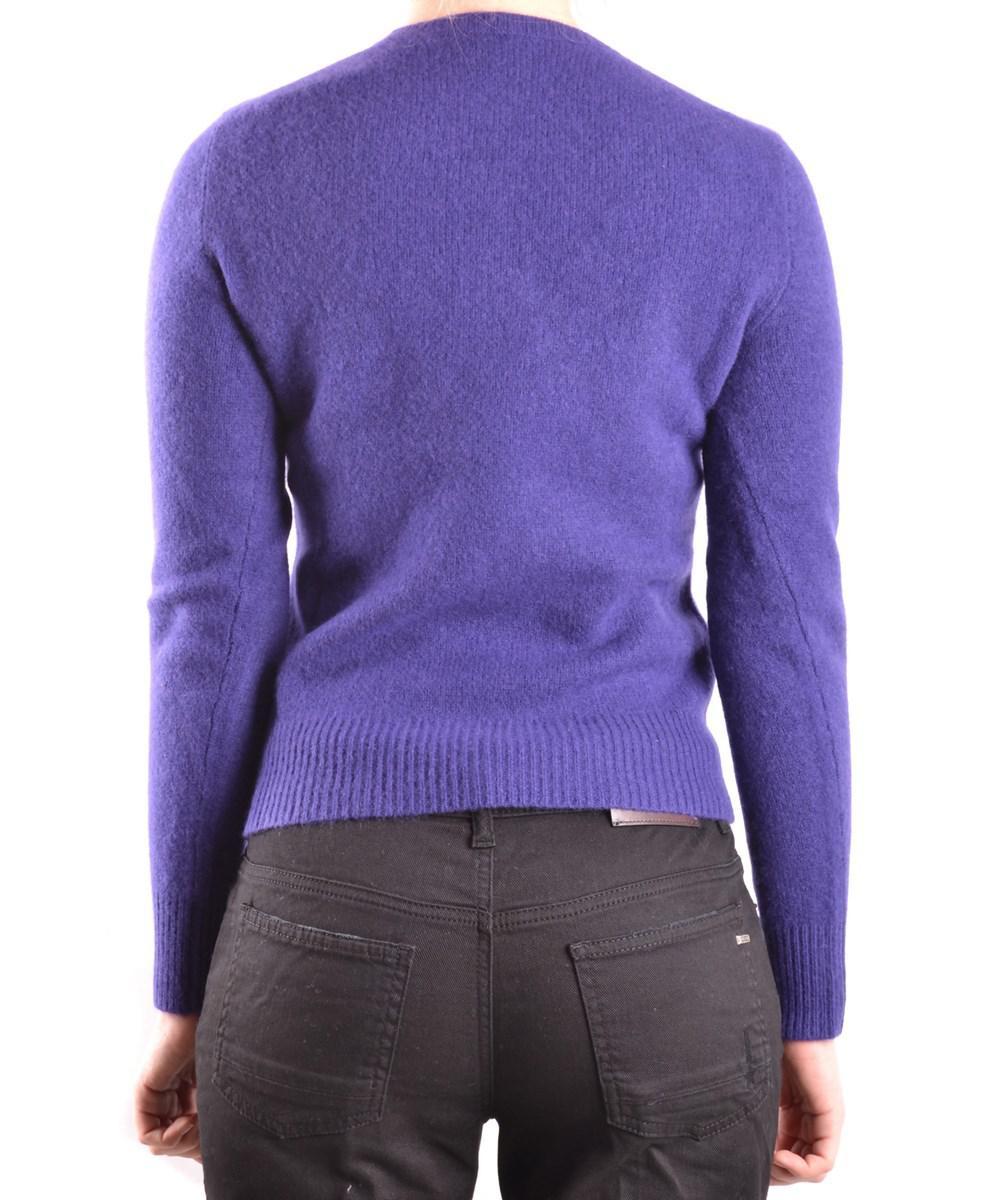 Ralph lauren Women's Purple Wool Sweater in Purple | Lyst