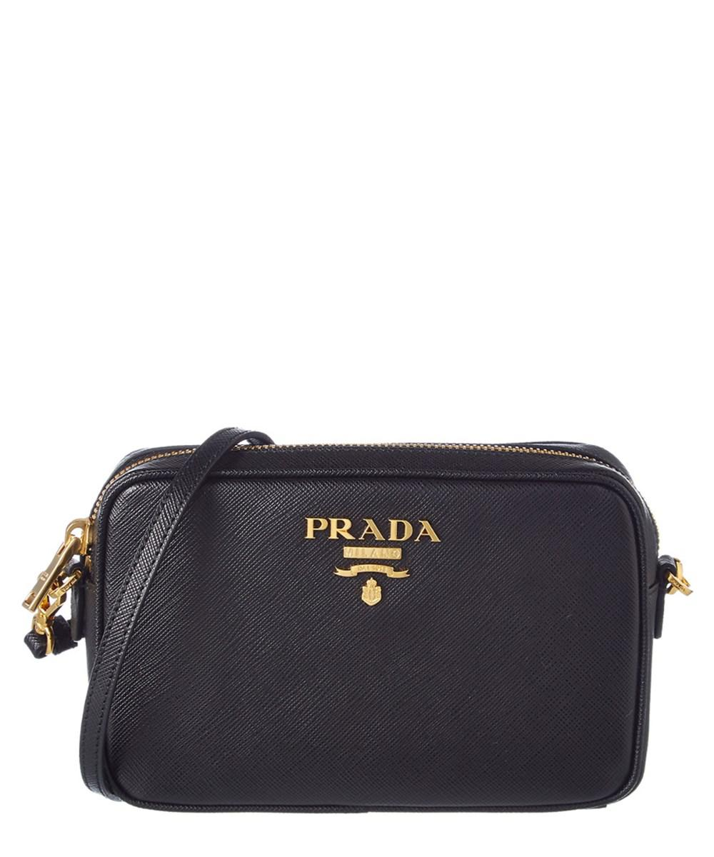 9dce1d85abae ... coupon for lyst prada saffiano leather camera bag in black 4e746 fe081