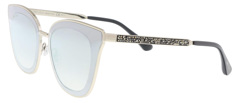657f6dad36c Lyst - Jimmy Choo Lory s 0ky2 Gold  Blue Cat Eye Sunglasses in Metallic