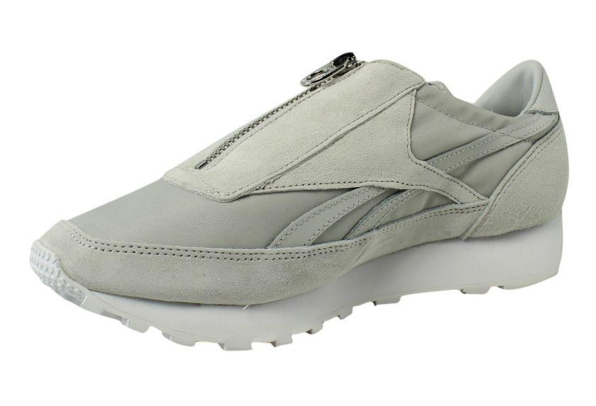 Reebok - Multicolor Womens Aztec Zip Skull Grey   Metallic Silver   White  Running Shoes -. View fullscreen b6aa52097