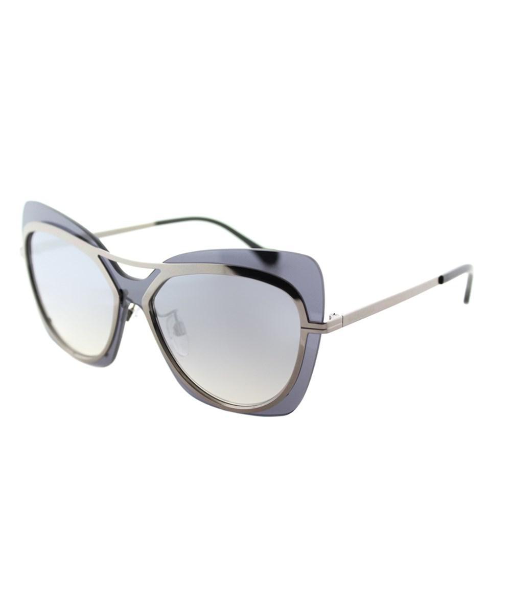 b0005d3d24a8a Balenciaga. Women s Ba0087 12c Shiny Dark Ruthenium Butterfly Sunglasses