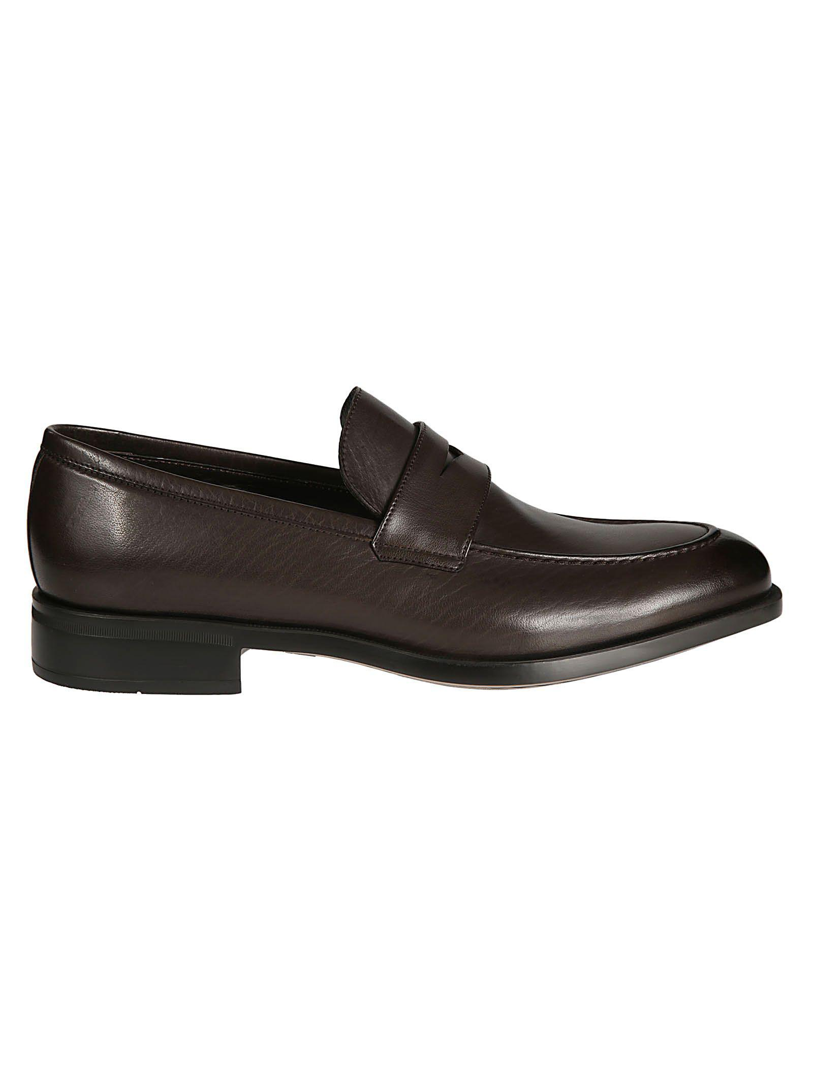 0ae1e29b1b7 Lyst - Moreschi Men s Brown Leather Loafers in Brown for Men