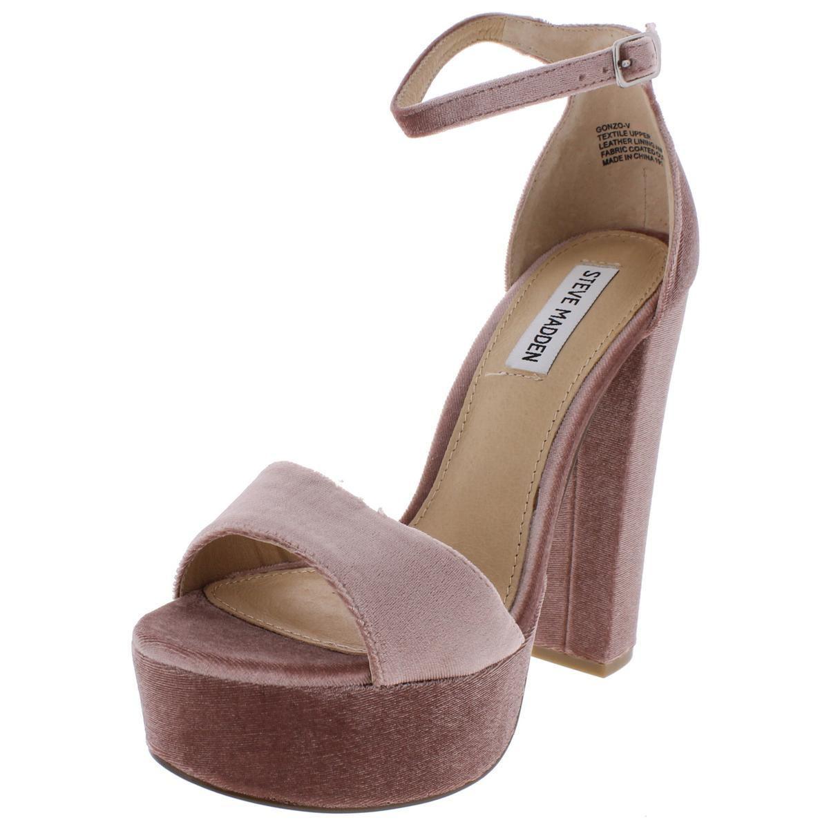 6f6f7022545f Steve Madden - Multicolor Womens Gonzo-v Velvet Platform Dress Sandals -  Lyst. View fullscreen