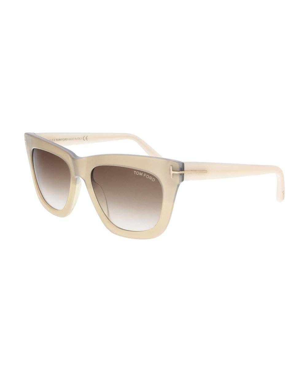 b3870e4b7199 Lyst - Tom Ford Ft0361 34f Celina Beige Gold Cateye Sunglasses in Brown