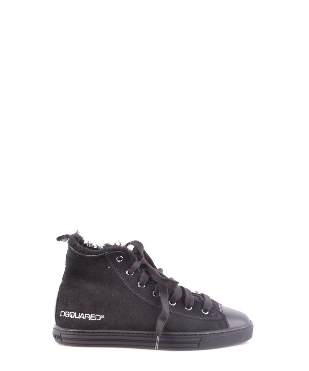 2b53a76be9d Lyst - Dsquared² Women s Black Suede Hi Top Sneakers in Black