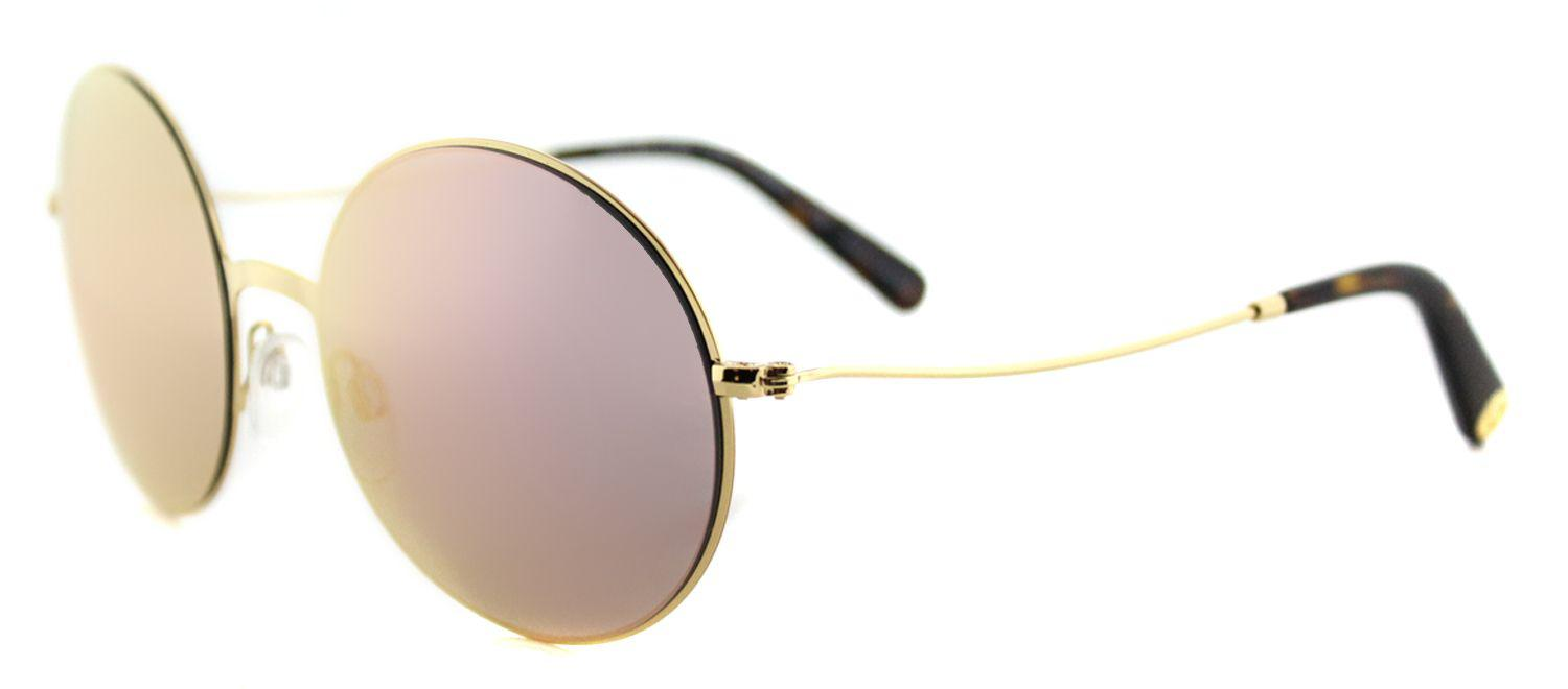 7f7f7cee7e6 Lyst - Michael Kors Mk5017 10244z Gold Round Sunglasses in Metallic