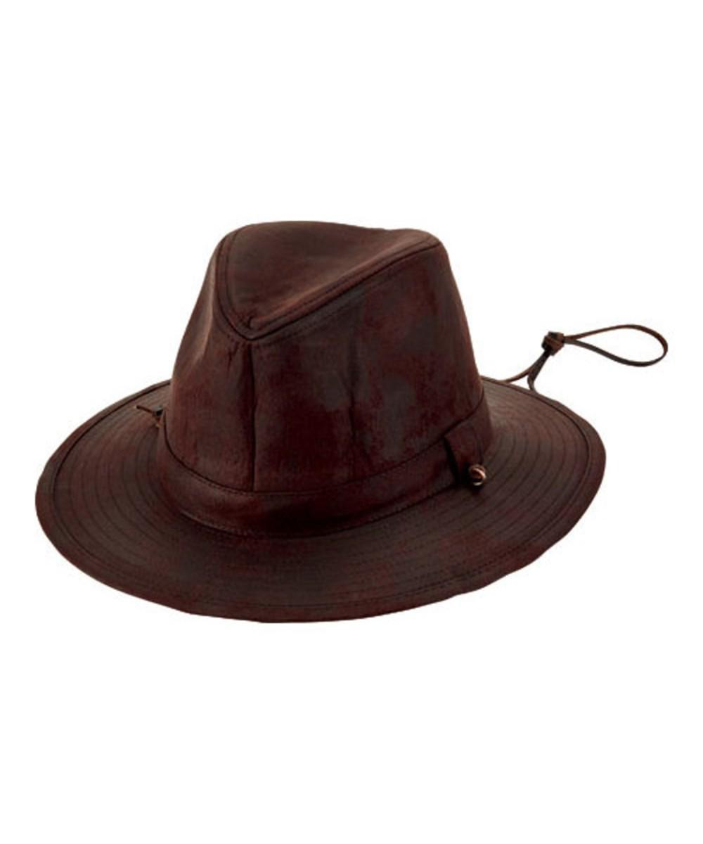 52117811824 Lyst - San Diego Hat Company Men s Faux Suede Fedora With Chin Cord ...