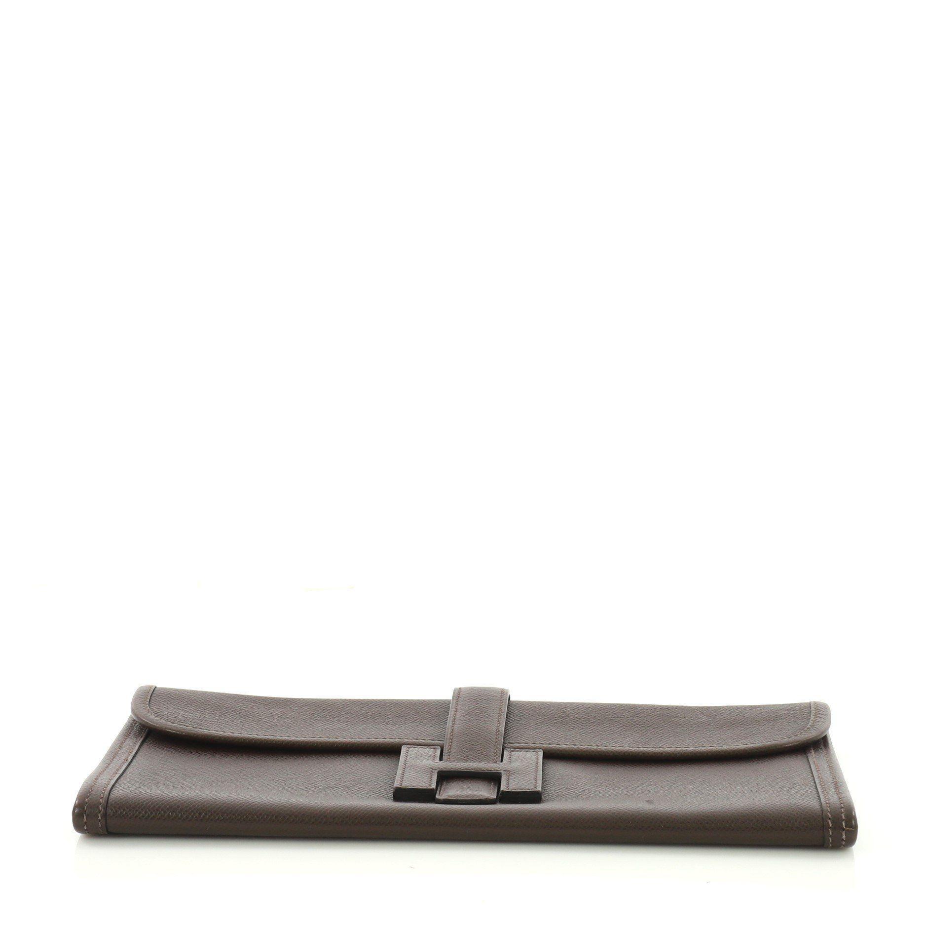 Lyst - Hermès Pre Owned Jige Elan Clutch Epsom 29 495681d1b