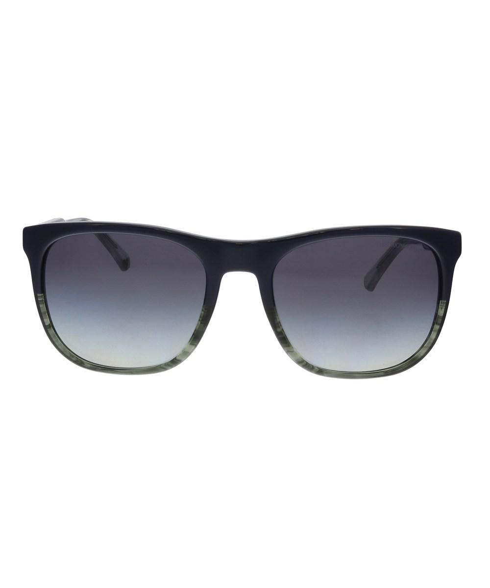 Lyst - Emporio Armani Ea4099 55728g Navy Rectangle Sunglasses in Blue d65597f732