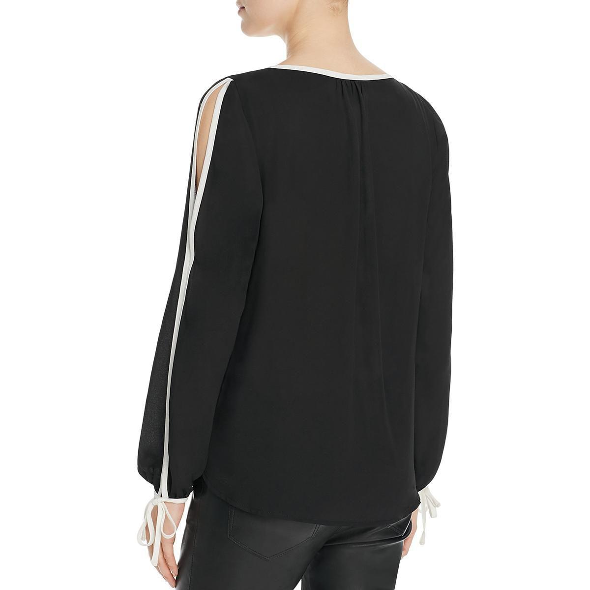 fa43617ffa070a Bobeau - Black Womens Denver Contrast Trim Cold Shoulder Blouse - Lyst.  View fullscreen