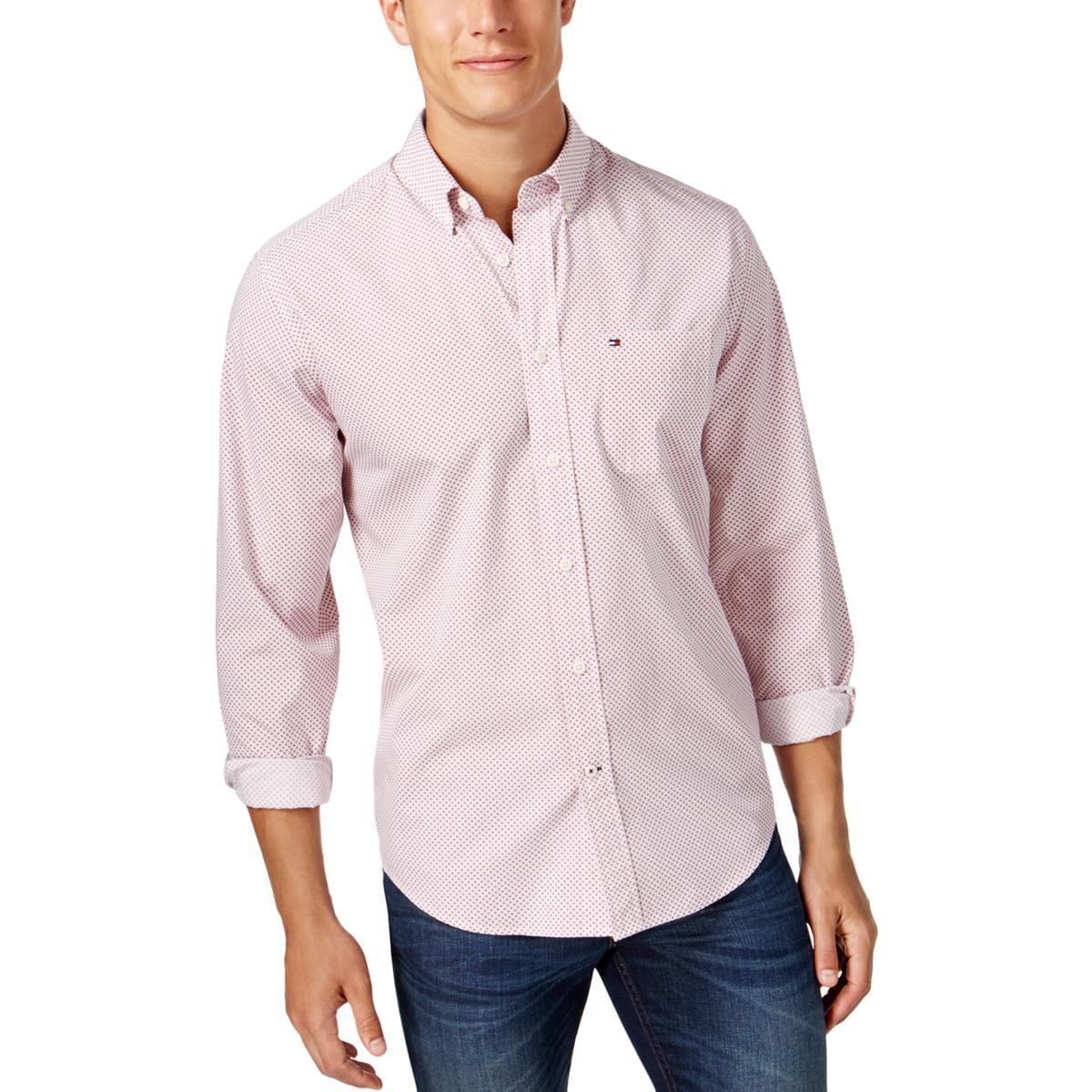 05b1ebe3b911 Lyst - Tommy Hilfiger Mens Classic Fit Long Sleeve Button-down Shirt ...