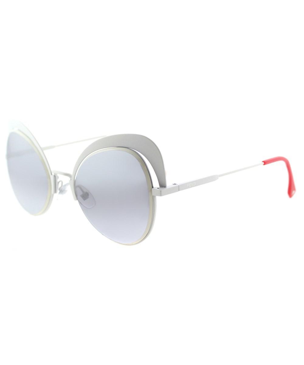 b542633fe2 Lyst - Fendi Ff 0247 Vk6 White Eyeshine Cat-eye Sunglasses in White