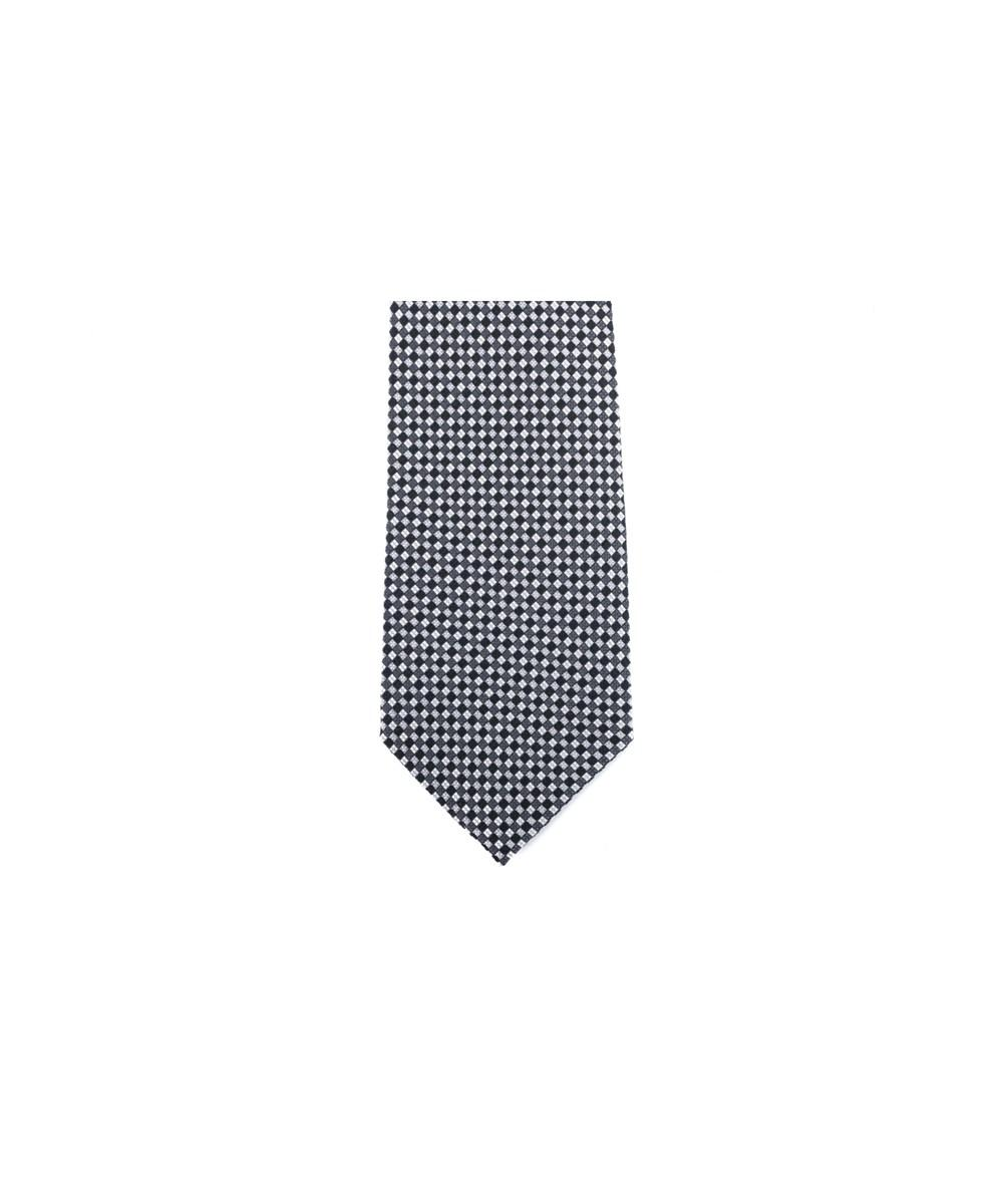 Lyst Tom Ford Black Grey Checkered Silk 4 Inch Wide Neck Ti In