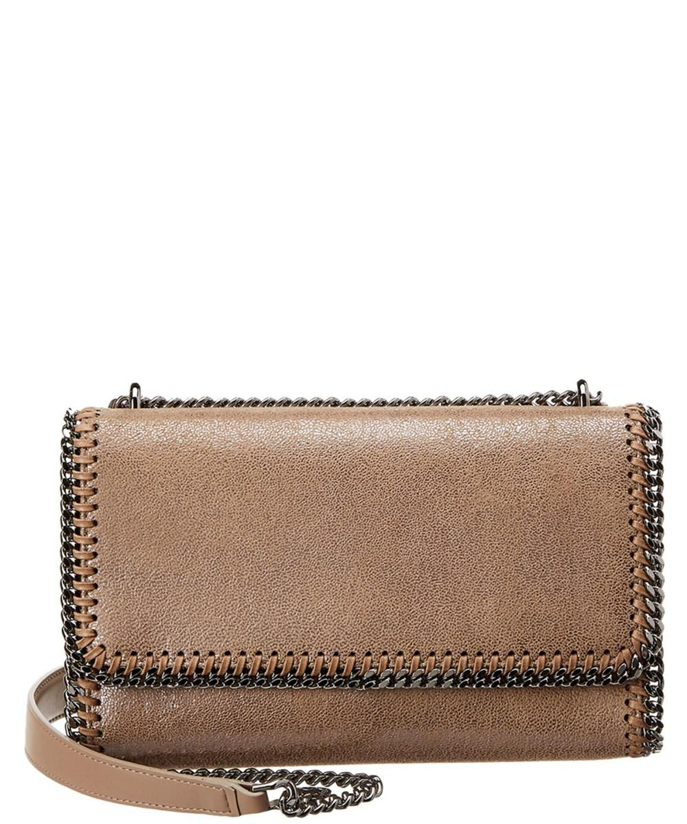 be7991b89565 Lyst - Stella Mccartney Falabella Chamois Shoulder Bag in Natural