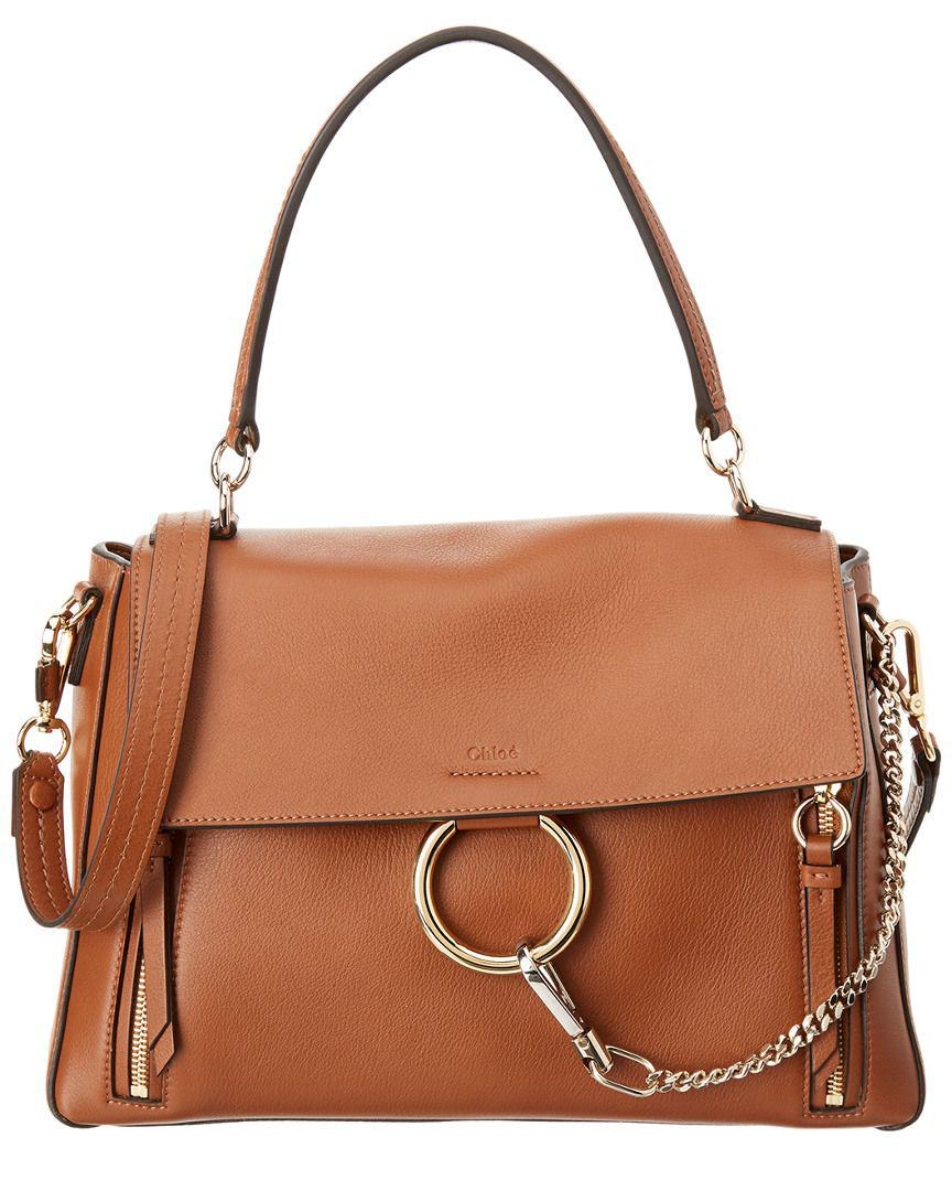 45d3b99da Chloé. Women's Natural Chloe Medium Faye Day Leather & Suede Shoulder Bag