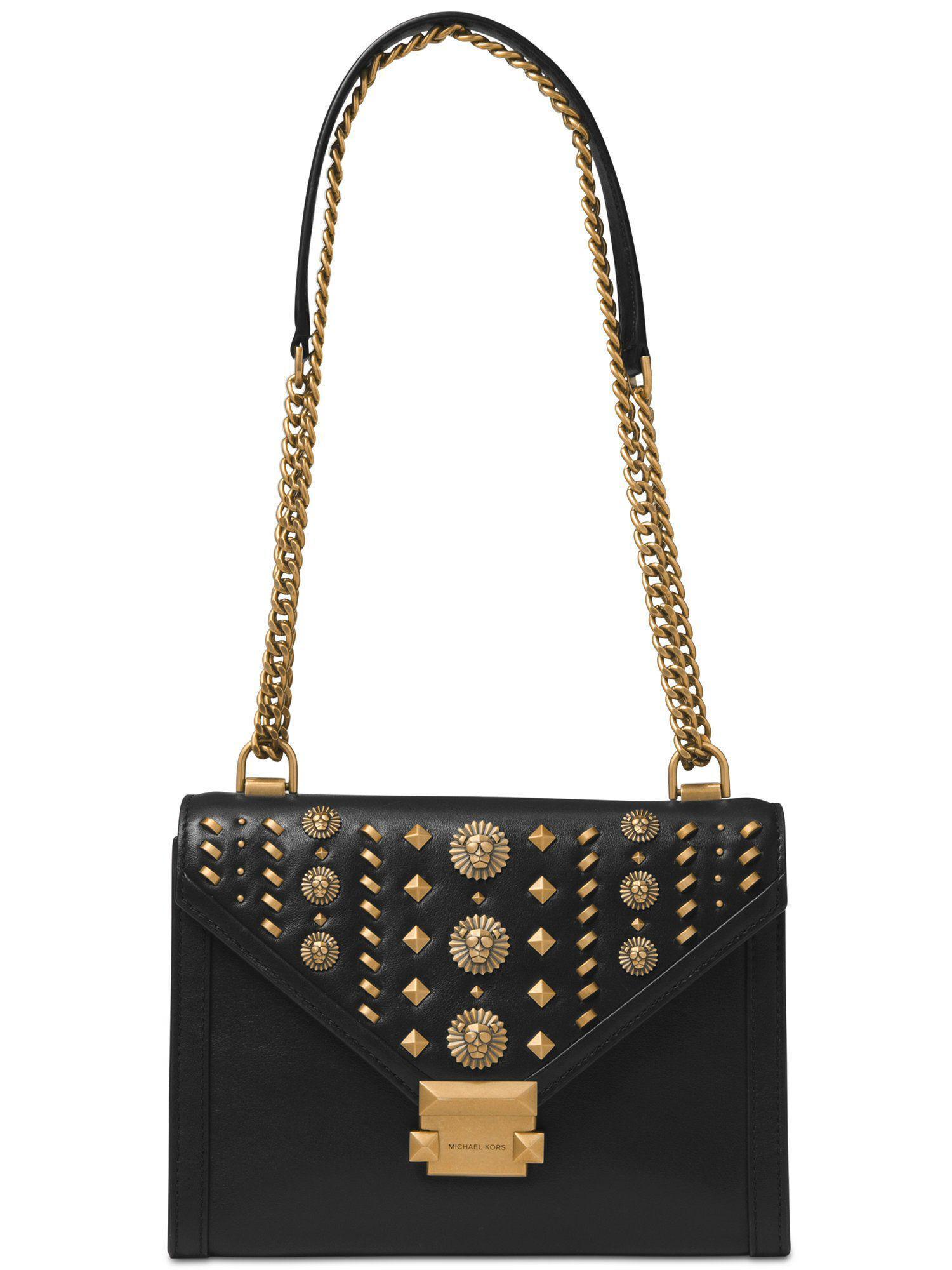 e0a449cee05c Michael Kors - Black Studded Whitney Shoulder Bag - Lyst. View fullscreen