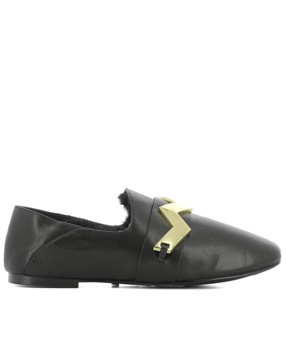 3e87b5fd80b Lyst - Kat Maconie Women s Black Leather Loafers in Black