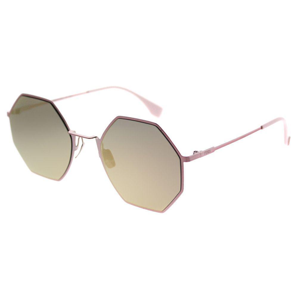 ad18b0412a Fendi. Women s Eyeline Ff 0292 35j 0j Pink Round Sunglasses