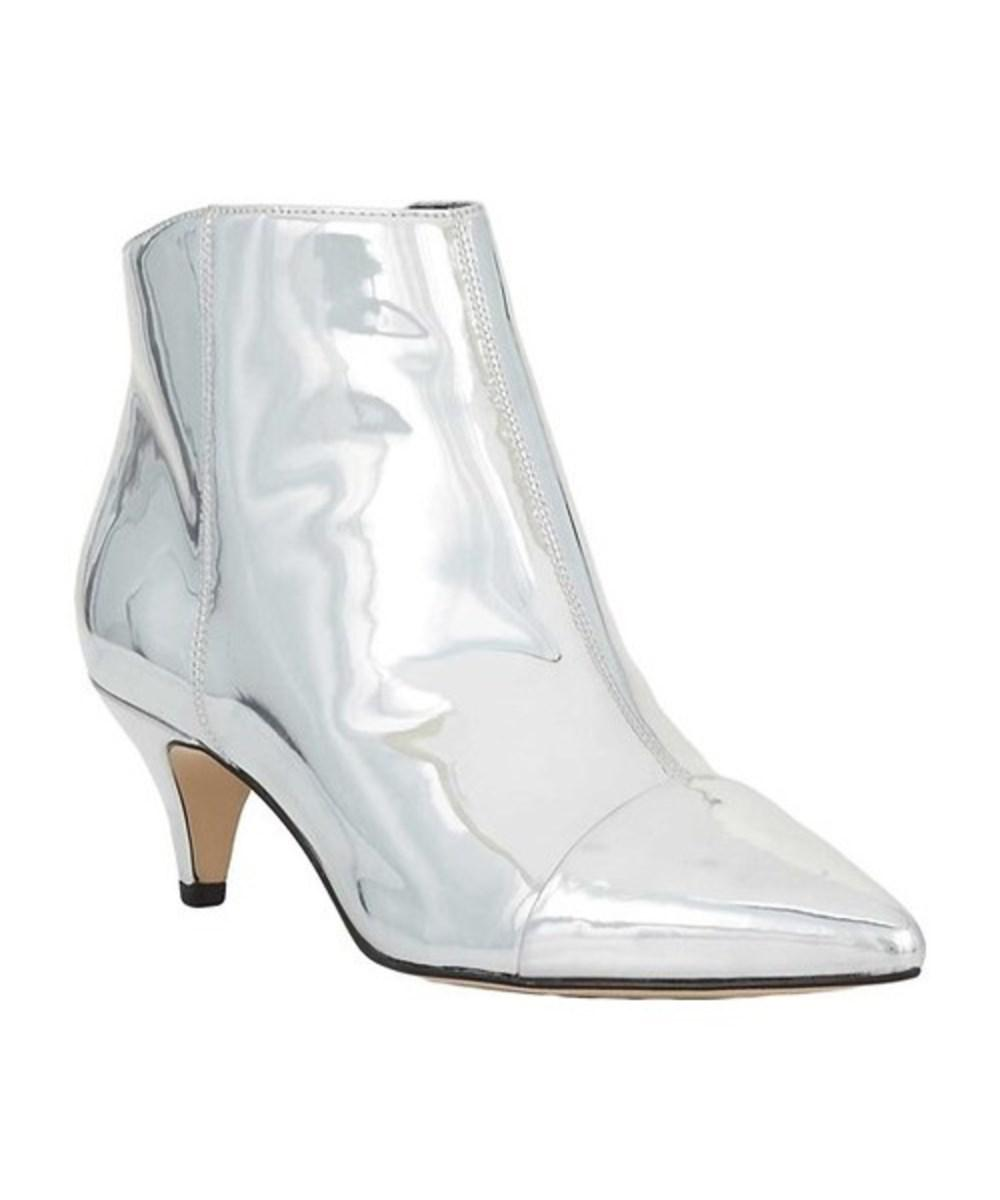 4ff02b54bf579e ... Patent-leather Ankle Boots in Red lowest discount 4a719 50228  Sam  Edelman. Metallic Women s Kinzey Pointed Toe Bootie promo code 9e885 ee747  ...