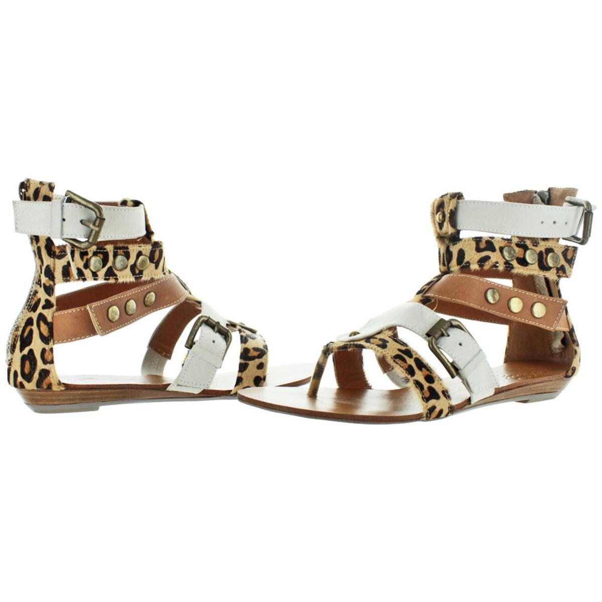 656a228f953f Naughty Monkey - Brown Womens Jet Animal Print Caged Gladiator Sandals -  Lyst. View fullscreen