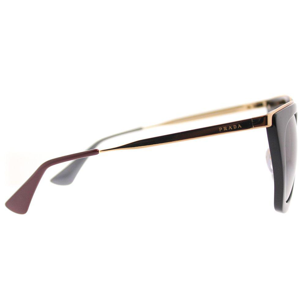 654e3e2e792 182ef 9cf11  new arrivals lyst prada pr 53ss 1ab2a0 black cat eye sunglasses  in black 24d58 c9c45