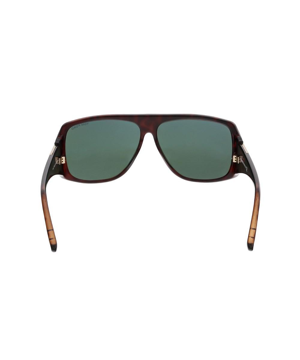 ee49a5c4f6e2c Lyst - Tom Ford Ft0433 52n Harley Dark Havana Rectangular Sunglasses ...