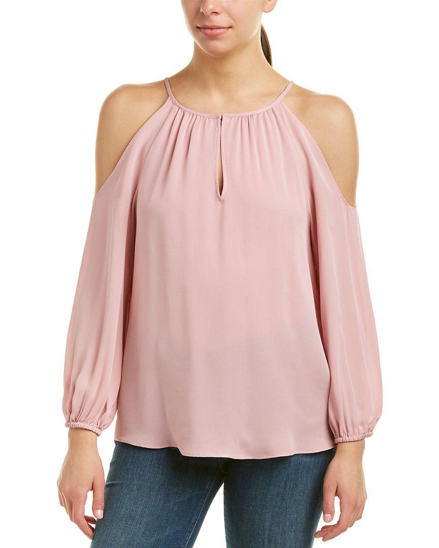 49cf159e838c17 Lyst - Joie Abdel Silk Top in Pink