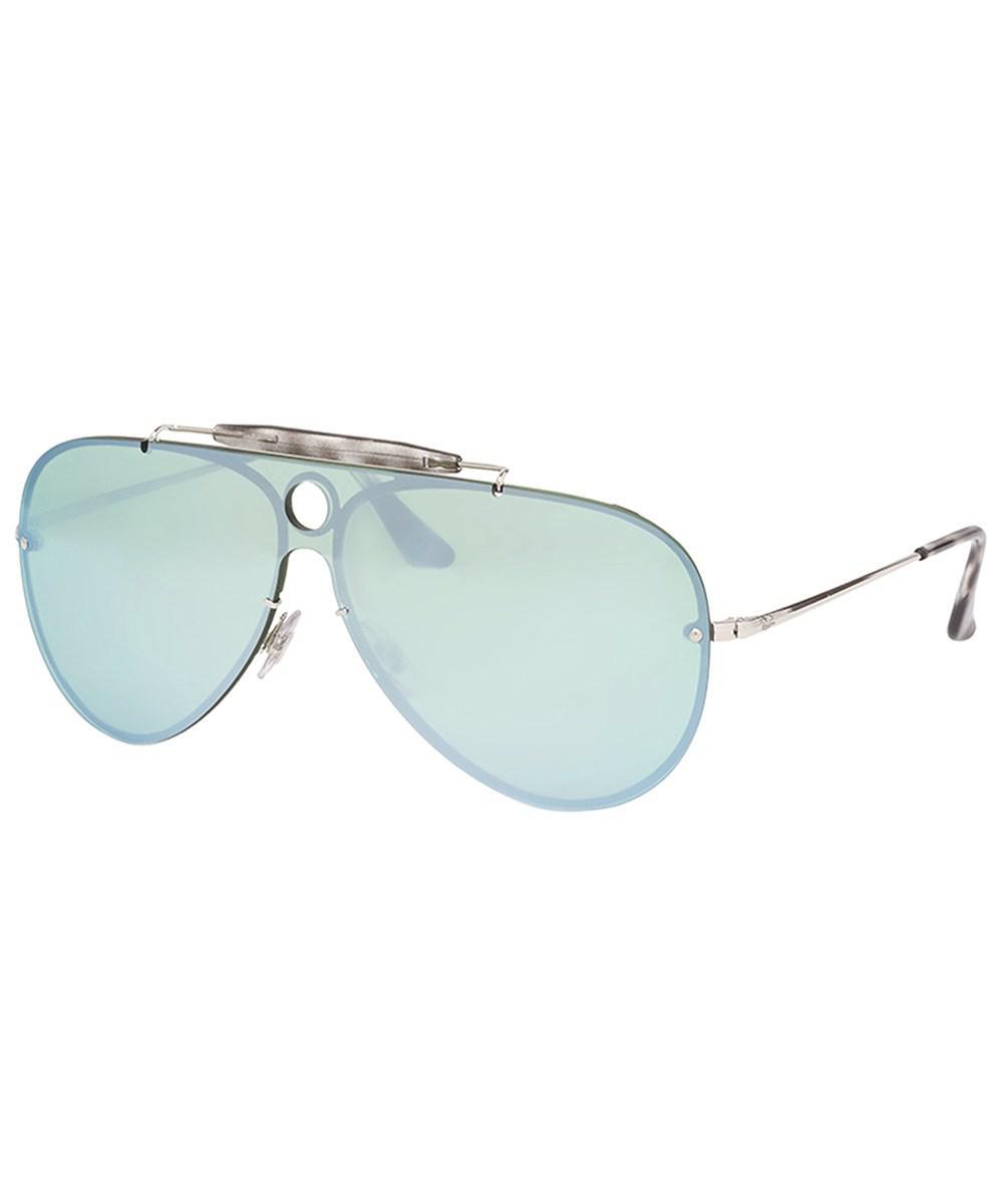 Ray-Ban Blaze Sonnenbrille Silber 003/30 58mm Va80Bh