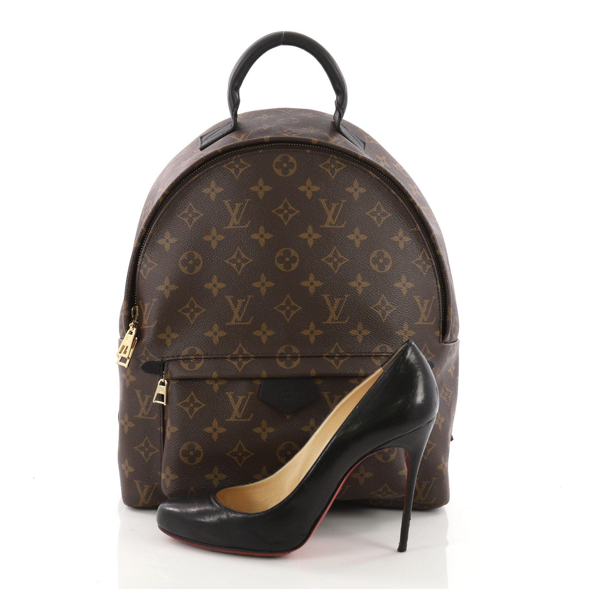 Louis Vuitton - Brown Pre Owned Palm Springs Backpack Monogram Canvas Mm -  Lyst. View fullscreen 23ca6da970