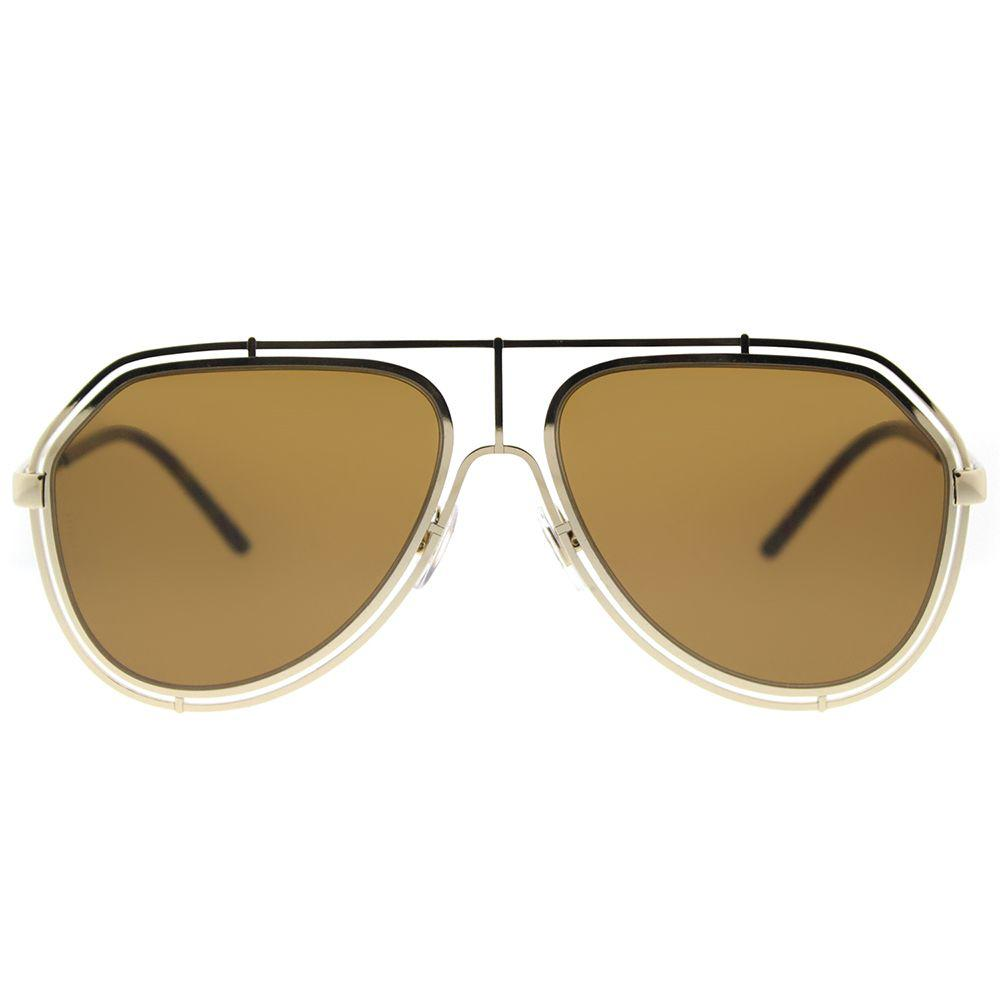 b1472a72b4b5 Dolce   Gabbana - Metallic Dg 2176 488 73 Pale Gold Aviator Sunglasses -  Lyst. View fullscreen