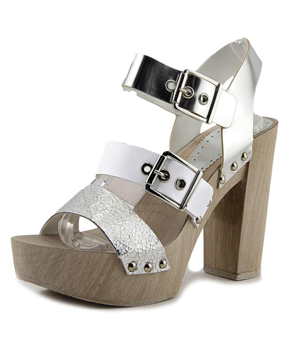 88d9a932c10 Lyst - Aldo Braria Women Open Toe Synthetic Silver Platform Heel in ...