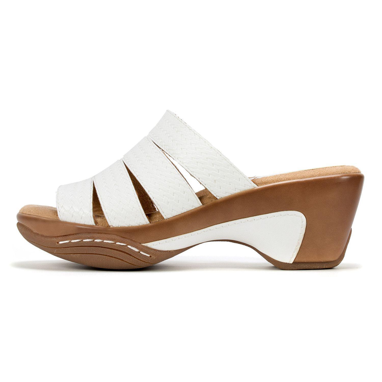 b3ffb8f1da17b Rialto - White Womens Valora Open Toe Casual Mule Sandals - Lyst. View  fullscreen