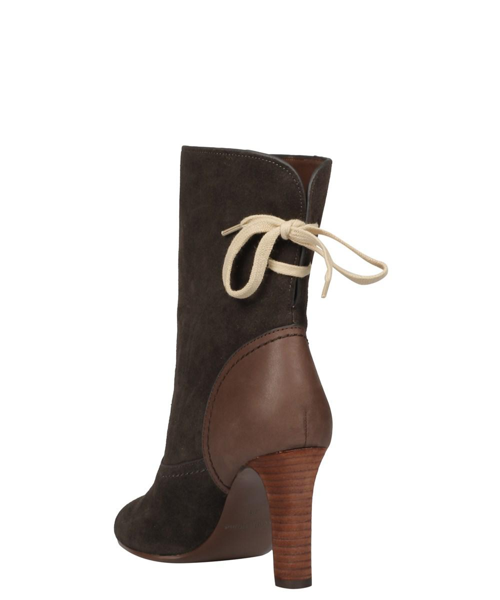 330d26bb08e Lyst see chloé womens a brown suede ankle boots loro piana morgex shearling  tall jpg 1000x1200