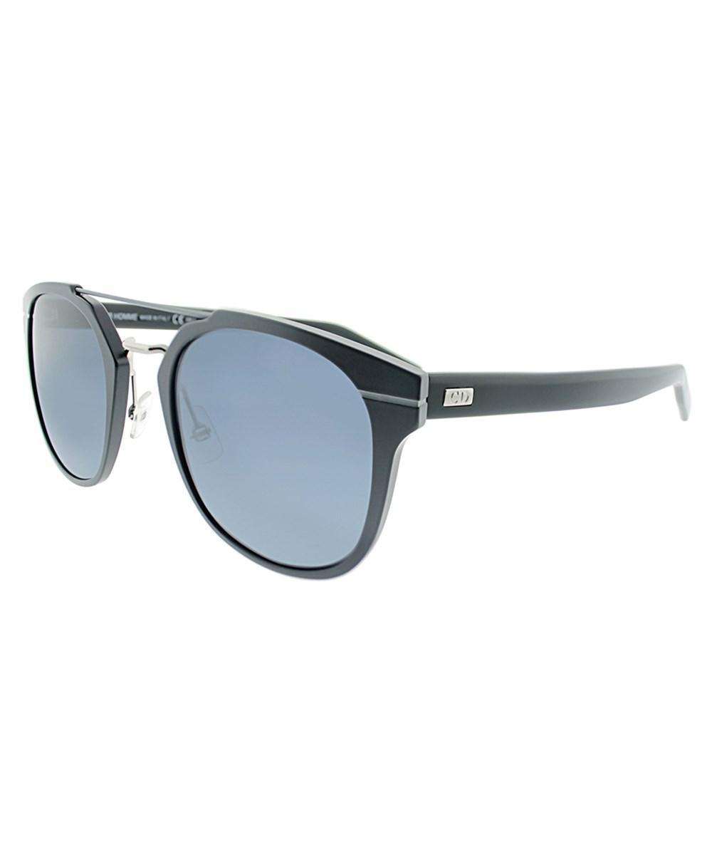 751dc9dbc543 Lyst - Dior Al 13.5 Gan Blallpd Black Round Sunglasses in Black
